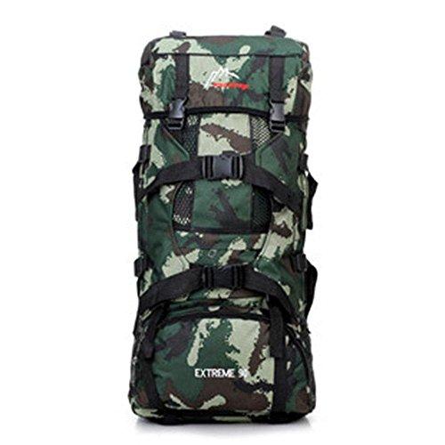 Outdoor Bergsteigen Tasche Großer Capacity Camouflage Doppelter Rucksack Camping Double Rucksack green camouflage