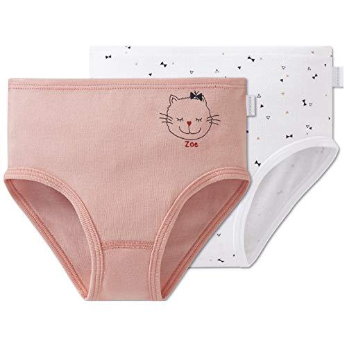 Schiesser Mädchen 95/5 Multi-Pack 2Pack Slips Unterhose, Mehrfarbig (Sortiert 1 901), (Herstellergröße: 128) (erPack 2)