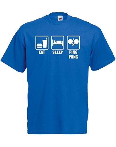 eat-sleep-pong-hommes-t-shirt-imprime-bleu-royal-blanc-2xl-119-124cm