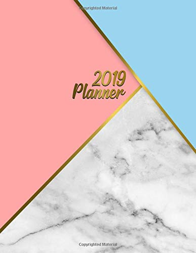 2019 Planner: Bright blue marble planner with weekly, to-do lists, inspirational quotes and funny holidays. The perfect 2019 organizer with vision boards and much more. (Marble Planners) por Simple Planners