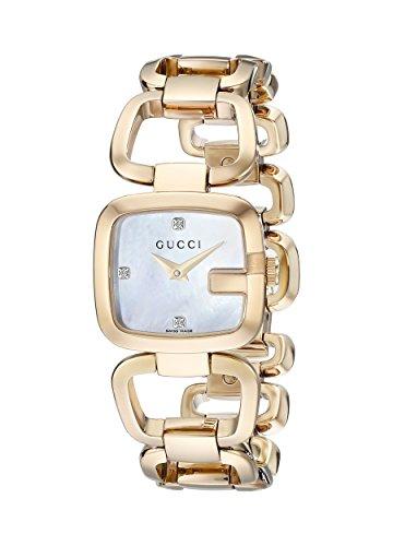 Gucci YA125513 - Orologio da polso da donna, cinturino in acciaio inox colore oro