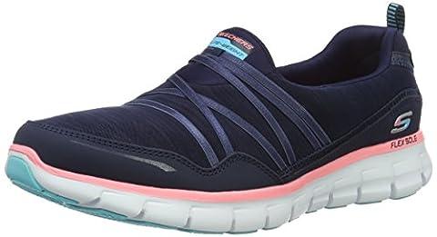 Skechers Synergy Scene Stealer Women's Low-Top Sneakers - Blue (Navy/Pink), 3 UK (36 EU) (6 US)