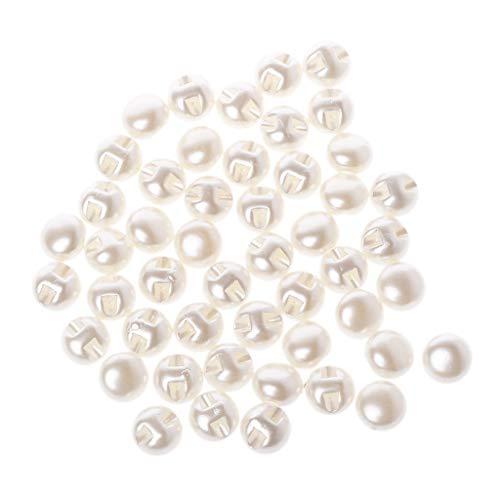 LLLucky 50 Stücke 11mm Runde Perle Knöpfe Kleidung Nähzubehör Kleidung Scrapbooking...