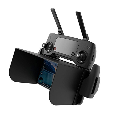Preisvergleich Produktbild Telefon Monitor Sun Haube Sonnenschirm für DJI Mavic / DJI Phantom 3 / DJI Phantom 4 Pro / DJI Inspire 1 M600 Romote Controller und Osmo - Schwarz (L168mm), Unterstützung 7,9 Zoll Tablette