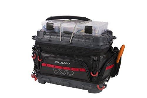 Plano PLAB36700 KVD Signature Series Angeltasche, Unisex-Erwachsene, KVD Signature Series 3600 Size Tackle Bag - Black,Grey, Red, Schwarz/Grau/Rot, 3600 -