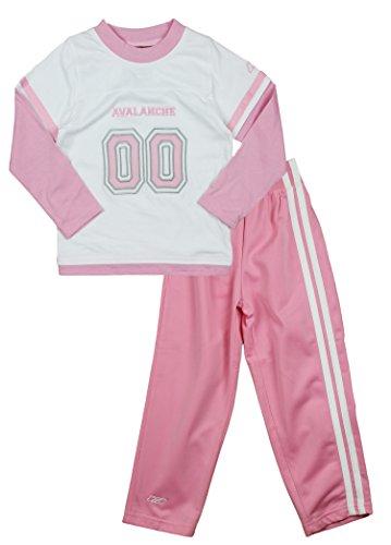 Reebok NHL Colorado Avalanche Little Girls 2-Stück Sueded Jersey und Hose Set, weiß/rosa Medium (5/6), Pink/Weiß Sueded-jersey-hose