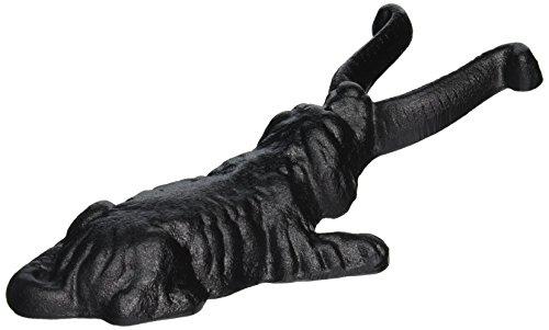 Esschert Design Stiefelknecht Motiv Hund aus Gusseisen, ca. 12 cm x 27 cm x 7,8 cm