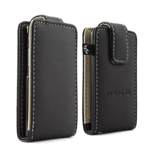 Proporta iPod Nano 7G Schutzhülle Case Etui aus Kunstleder für Ihr Apple iPod Nano 2012 - Schwarz (Nano 7g Ipod Case)