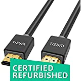 (CERTIFIED REFURBISHED) TIZUM Ultra HDMI 2.0 -Gold Plated-High Speed Data 18Gbps, 3D, 4K, HD 2160p (10 Ft/3M-Grey)
