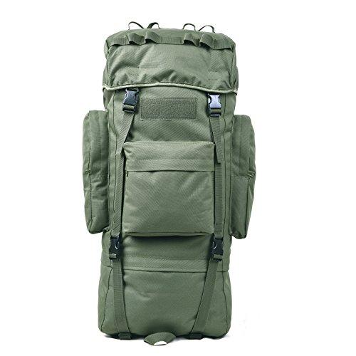 Outdoor - Reise - Rucksack 65L Frauen Schultern Ihre Taschen Wateproof Reisen Rucksack Kapazität Taktik Army green