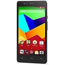 bq Aquaris E5 LTE - Smartphone  libre Android (Qualcomm Snapdragon 410, Quad Core A53, 1.2 GHz, cámara de 13 MP, 8 GB memoria interna, 1 GB de RAM, Android 4.4), blanco y negro