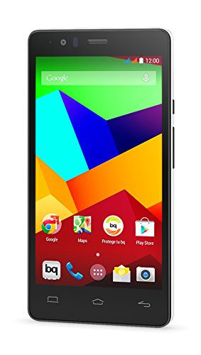 bq Aquaris E5 LTE - Smartphone  libre Android (Qualcomm Snapdragon 410, Quad Core A53, 1.2 GHz, cámara de 13 MP, 8 GB memoria interna, 1 GB de RAM, Android 4.4), blanco y negro