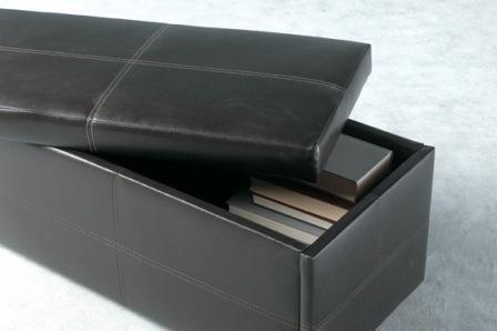 Piel sintética caja de almacenaje/unidad muebles otomano/Nuevo