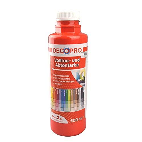 Voll- und Abtönfarbe 500 ml ca. 3 m² rot innen/außen DecoPro