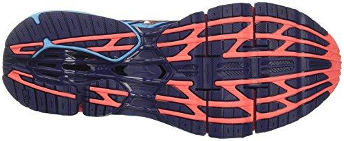 Mizuno Wave Prophecy 7 Wos, Zapatillas de Running para Mujer, Multicolor (Aquarius/Hotcoral/Patriotblue 65), 40.5 EU