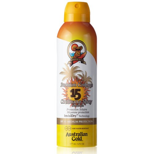 Australian Gold SPF 15 Premium Coverage Spray, 10130, 1er Pack (1 x 0.177 l) - Hair Protector Spray
