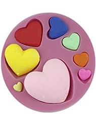 Auket Divers Coeur Fondant savon sucre Artisanat Gâteau décoration de biscuits de moule de silicone # 131