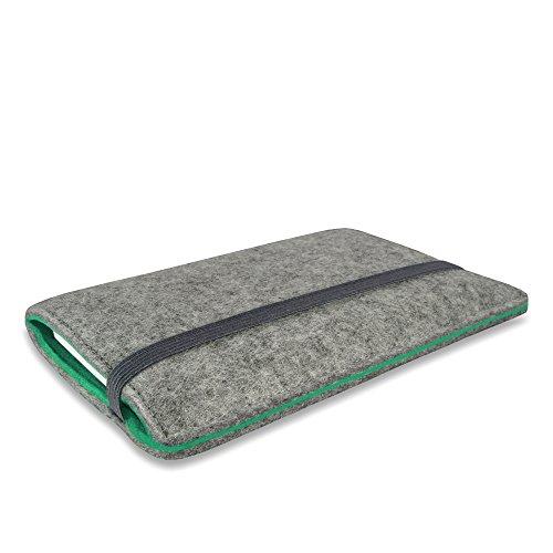 Stilbag Filztasche 'FINN' für Apple iPhone 7 plus - Farbe: hellgrau/apfelgrün hellgrau/mint