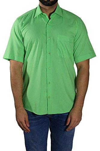 MUGA Homme Chemise à manches court, légèrement cintrée Vert