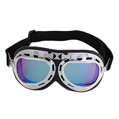 DealMux-Silber-Ton-Rahmen Farbige Linse Augenschutz Sunglass Schutzbrillen
