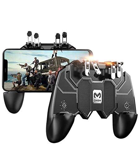 Memo Pubg Mobile Controller geeignet für Android & iOS Telefoncontroller-Gamepad mit 6-Finger Memo Center