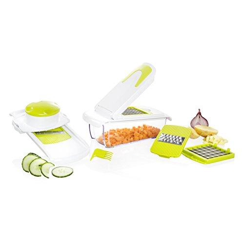 4 in 1 Multifunktion-Schneider für Gemüsewürfel; Gemüseschneider mit Aufbewahrungsbox; Gemüsehobel; Gemüsereibe; 515542 Wenco