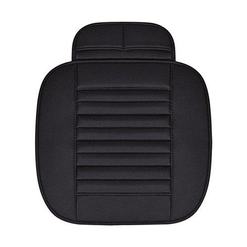 WINOMO Universal Auto Sitzbezüge Pu Leder Bambus Holzkohle Breathable Auto Sitzkissen für Auto (schwarz)