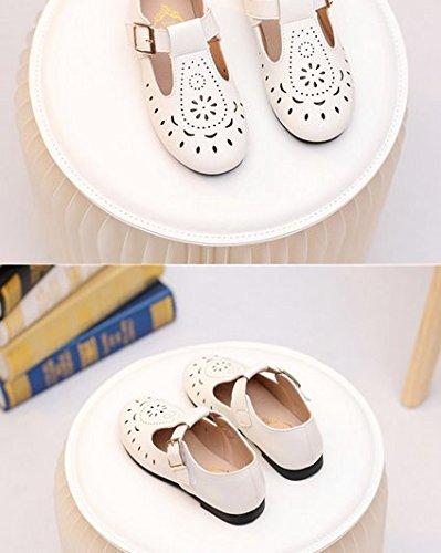 Ohmais Enfants Filles Chaussure cérémonie Ballerines à bride Fête Demoiselle d'honneur Mariage Escarpin Abricot