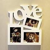 Homeofying, Cornice in Legno per Foto Fai da Te, con Lettera d'Amore e Scritta in Inglese 'Love' 1