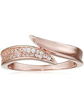 Elements Silver Ring, Sterlingsilber, rotvergoldet, mit klaren runden Zirkonia