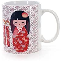 Novastyl 8023014 Lot 6 Mugs 30cl Sakura - Rose - Porcelaine