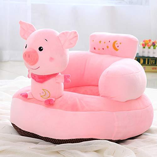 WAYERTY Tier Kindersofa, Kindersessel Couch Plüschtiere Faul Polstermöbel Cartoon Sitz Hocker Jungen und mädchen Geburtstagsgeschenke Mini-Sessel-Rosa W55xH40cm(22x16inch)