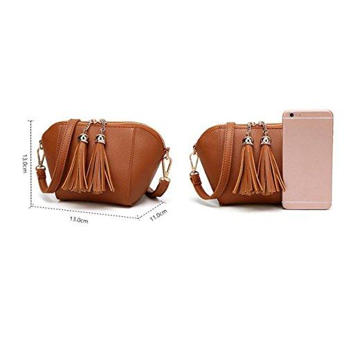 Koreanische Art- Und Weisetroddel-kleine Quadratische Taschen-Schulter-Kurier-Beutel-Freizeit-Paket White