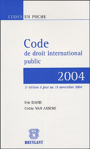 Code de droit international public 2004