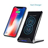 ZYX Wireless-Ladegerät, Wireless-Ladestation Qi-Zertifiziert Wireless-Ladematte 10W Für iPhone 8/8 Plus, iPhone X, Huawei Mate 10, Galaxy S8 / S8 Plus, Hinweis 8, Hinweis 5, S6 Edge,Black