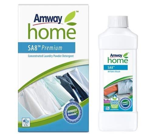 Amway Lessive Concentrée en Poudre Premium SA8 - 3 kg + Amway Poudre Éclat SA8 - 1 kg