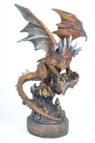 Großer kupferfarbender Drachen *32,5 cm* Dragon Figur Fantasy Deko