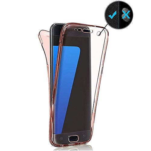 360 Grad Handyhülle für Huawei Mate 20 Pro,Miagon Ultra Dünn Weiche Transparent Silikon Etui Full Cover Vorne Hinten Rundum Doppel-Schutz Hülle Case Cover für Huawei Mate 20 Pro