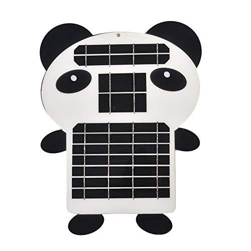 Waterfaill pannello solare waterfail, uscita a singolo cristallo 5w5vsusb regolatore pannello solare semi-flessibile portatile esterno, porta usb - panda shape