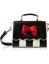 Hope, Womens Shoulder Bag, Multicolour (Black/Cream), 13x40x29 cm (B x H T) Lola Ramona