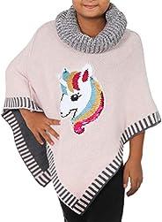 Candygirls - Poncho para niña con lentejuelas reversibles