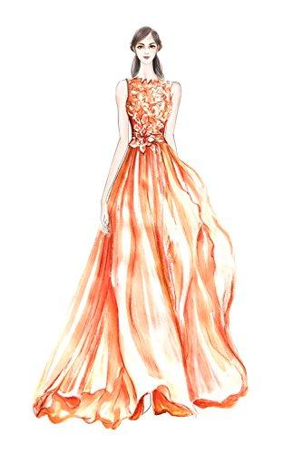 Victory Bridal Edel Rosa Spitze Lang Brautmutterkleider Partykleider Promkleider Abendkleider Festliche Braun