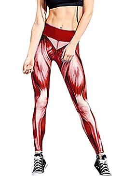 DOGZI Mujer Yoga Pantalones Casual Pantalones de Vestir Elegante Pantalones de Pinza Negocios Palazzo Pantalon...