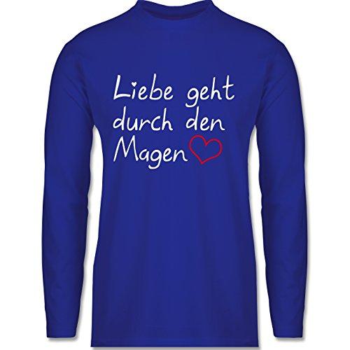 Küche - Liebe geht durch den Magen - Longsleeve / langärmeliges T-Shirt für Herren Royalblau
