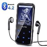 Coulax 16GB MP3 Player Bluetooh MP3 Music Player mit Kopfhörer 2.4''HD LCD Display Lossless Sound Musik-Player Unterstützt FM Radio Diktiergerät TFT Bildschirm Speicher Erweiterbar bis 128 GB