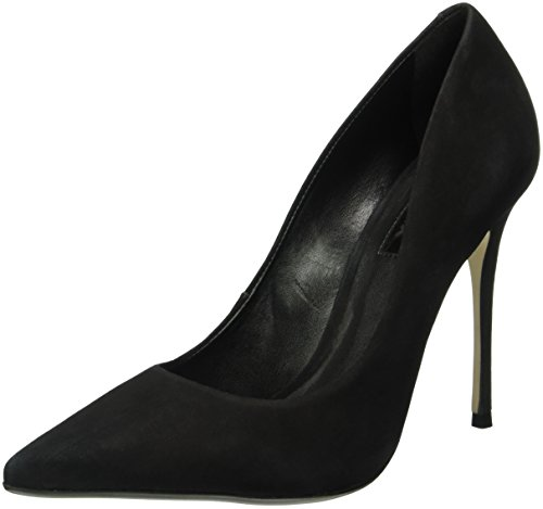 Bronx Damen Rio Pumps, Schwarz (Black 01), 39 EU (Heels Leder High Bronx)