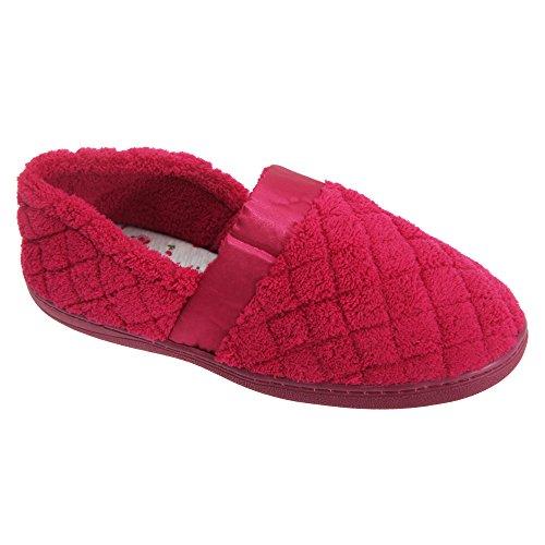 Pantofole con tessuto a rombi - Donna Blu navy
