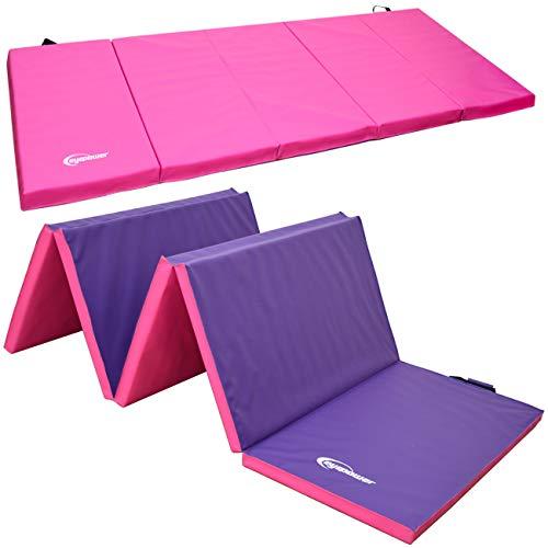 Eyepower XXL Gymnastikmatte 300x120x5 Turnmatte Sportmatte Weichbodenmatte Pink