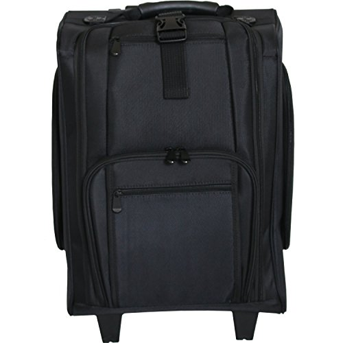 Tragbare Nylon Make-up Trolley Fall Make-Up Artist Travel Fall Schwarz