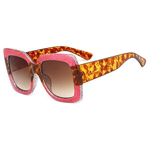 YLNJYJ Sonnenbrillen Bling Sonnenbrille Frauen Platz Sonnenbrille Glänzenden Rahmen Kristall Marke Brille Mode Weibliche Shades